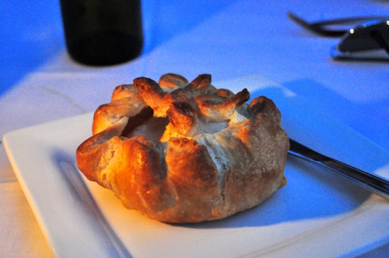 Prairie Fruits Farm Cheese baked in puff pastry.