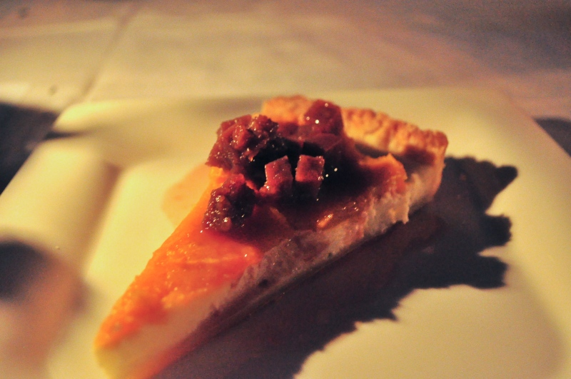 Goat Cheese Tart with Grape Agrodolce.