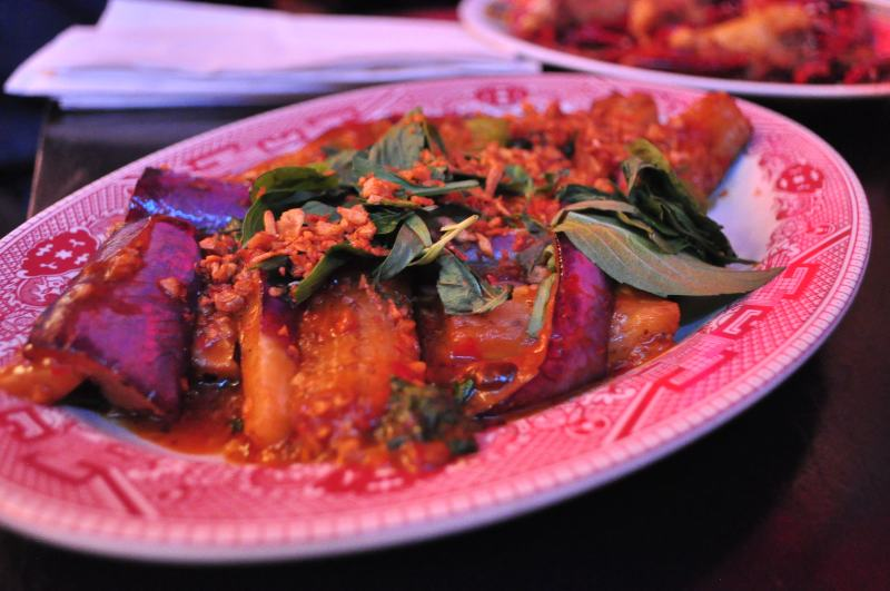 Japanese Eggplant with Thai Basil.