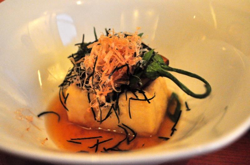 Agedashi Tofu with Shishito Pepper.
