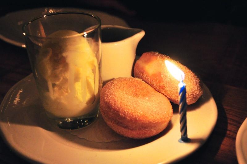 Birthday Doughnuts.