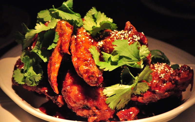 Fried Gunthorp Chicken Wings.