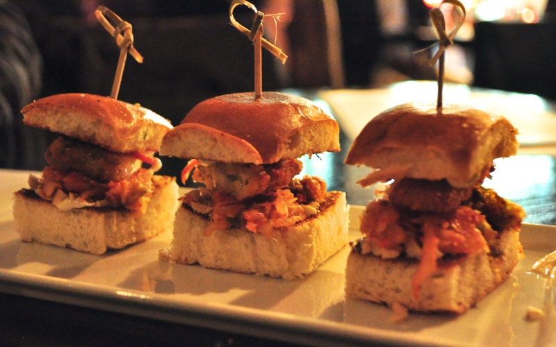 Fried Oyster and Kimchi Sliders. Best. Food. Ever.