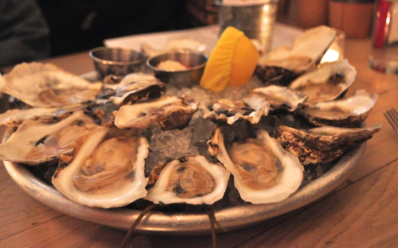 Oysters on Oysters (we ate four dozen!)