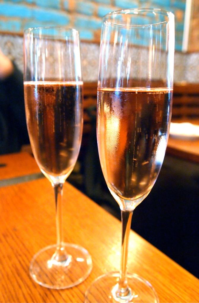 Rose' Champagne for dessert!
