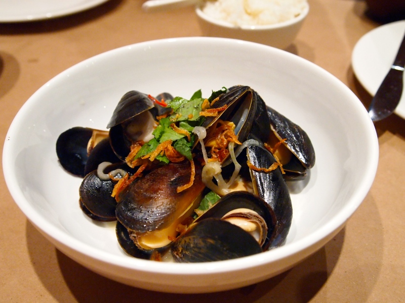 Thai Coconut Mussels.