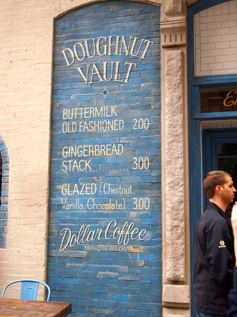 Doughnut Vault Menu.