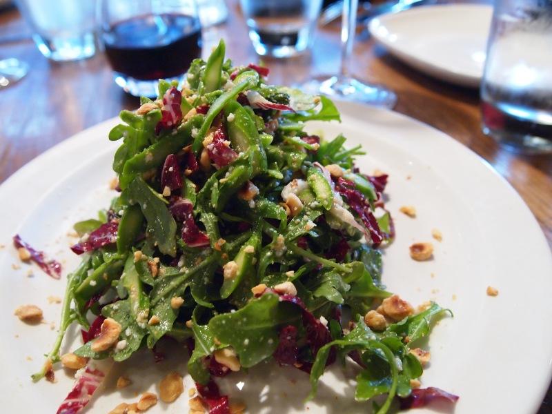Arugula salad with radicchio.